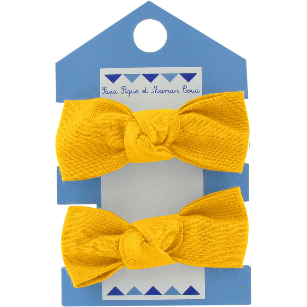 Small elastic bows yellow ochre