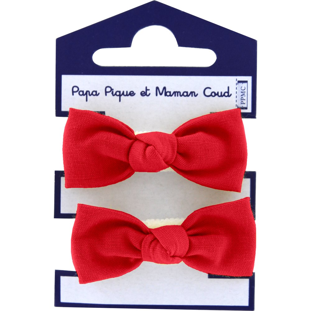 Small elastic bows tangerine red
