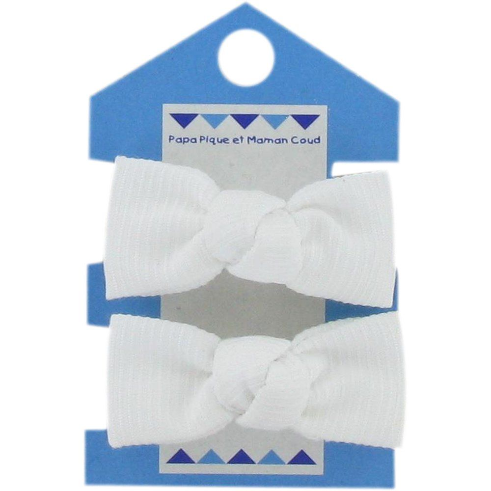 Small elastic bows white