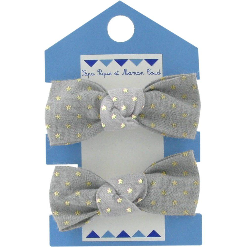 Small elastic bows etoile or gris