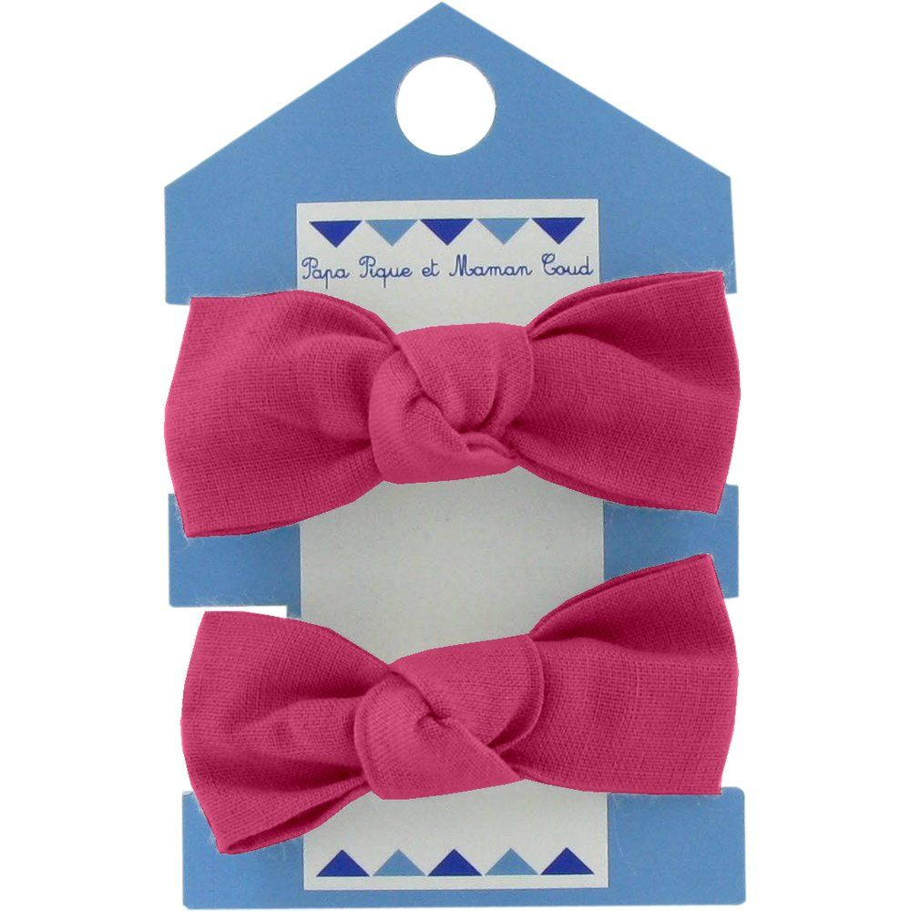 Small elastic bows fuschia