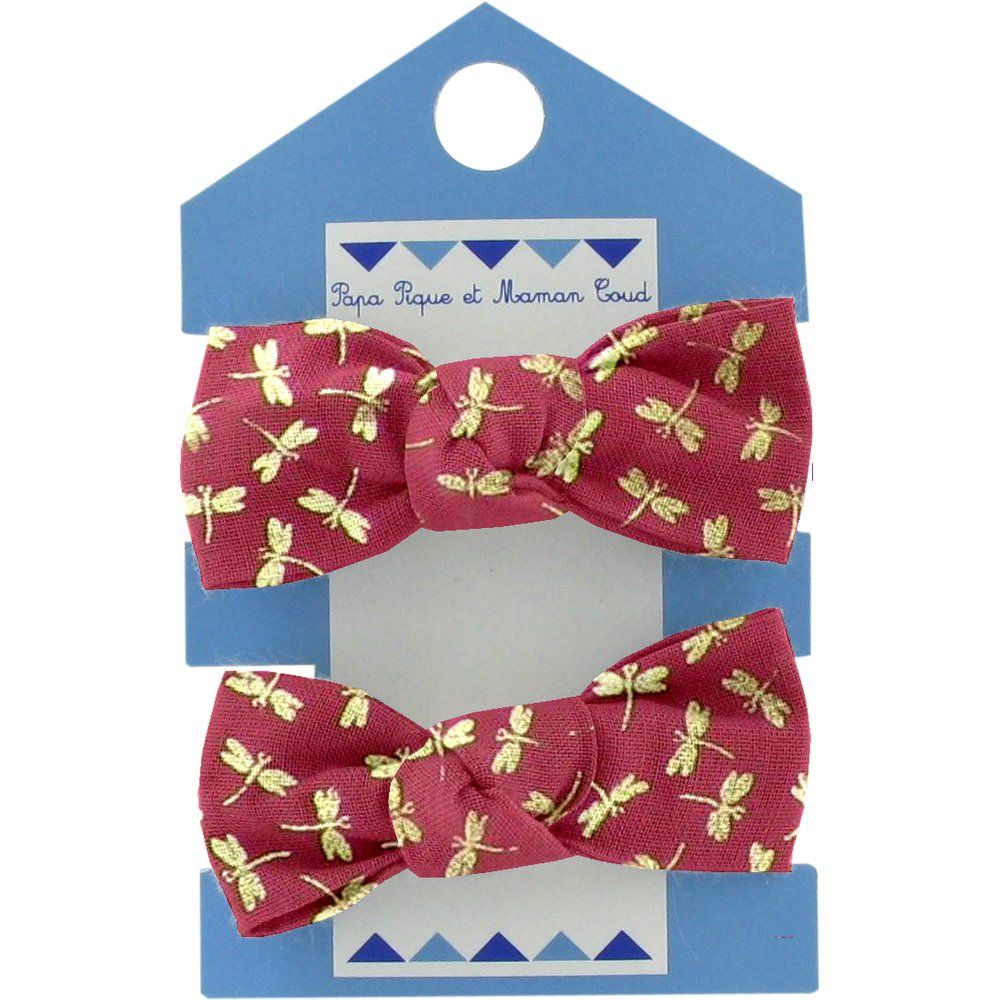 Small elastic bows ruby dragonfly