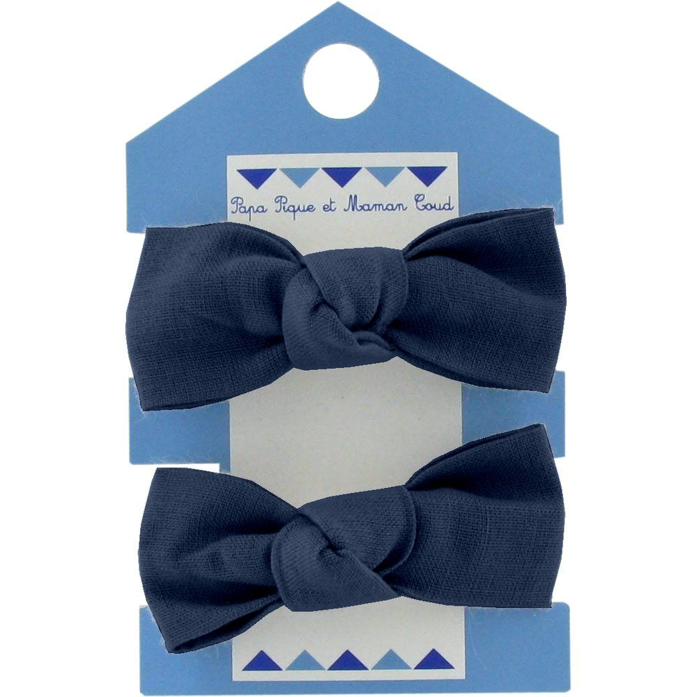 Small elastic bows navy blue