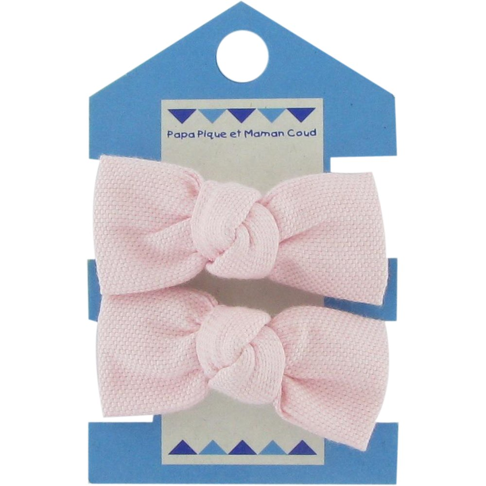 Small elastic bows light pink