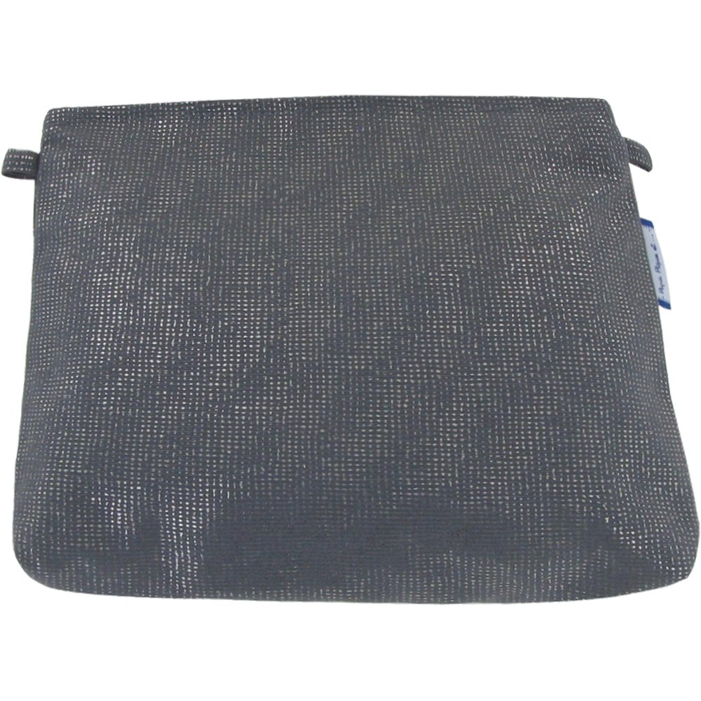 Pochette tissu anthracite argent
