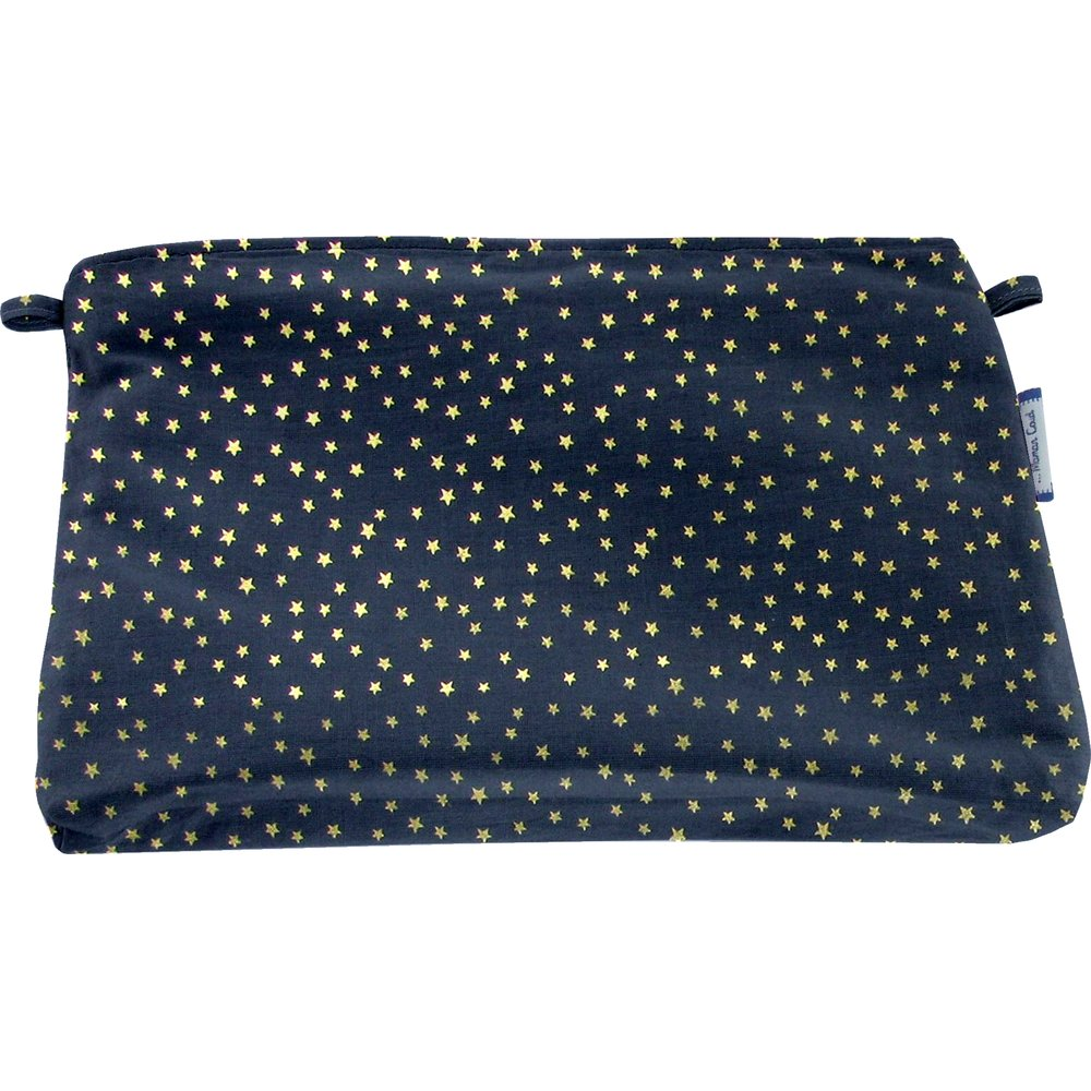 Coton clutch bag etoile or marine