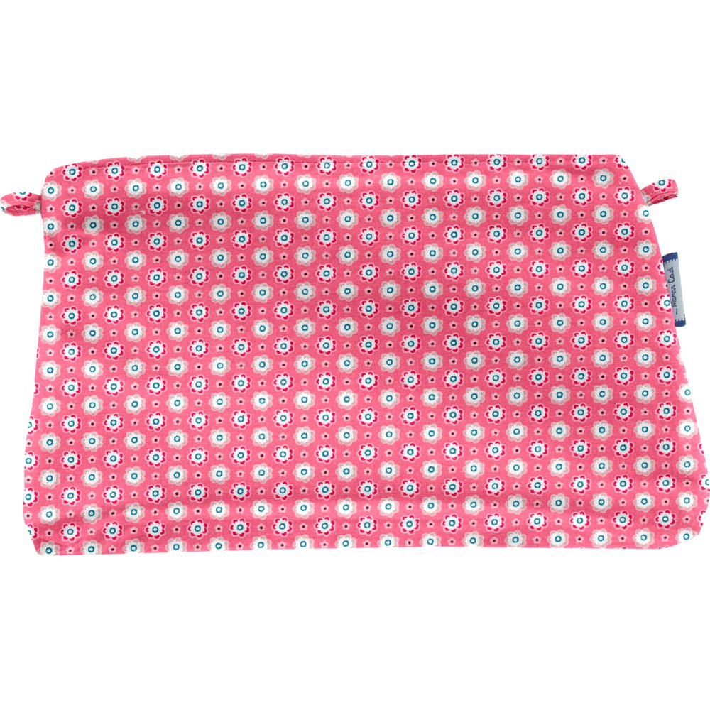 Pochette coton  fleurette blush