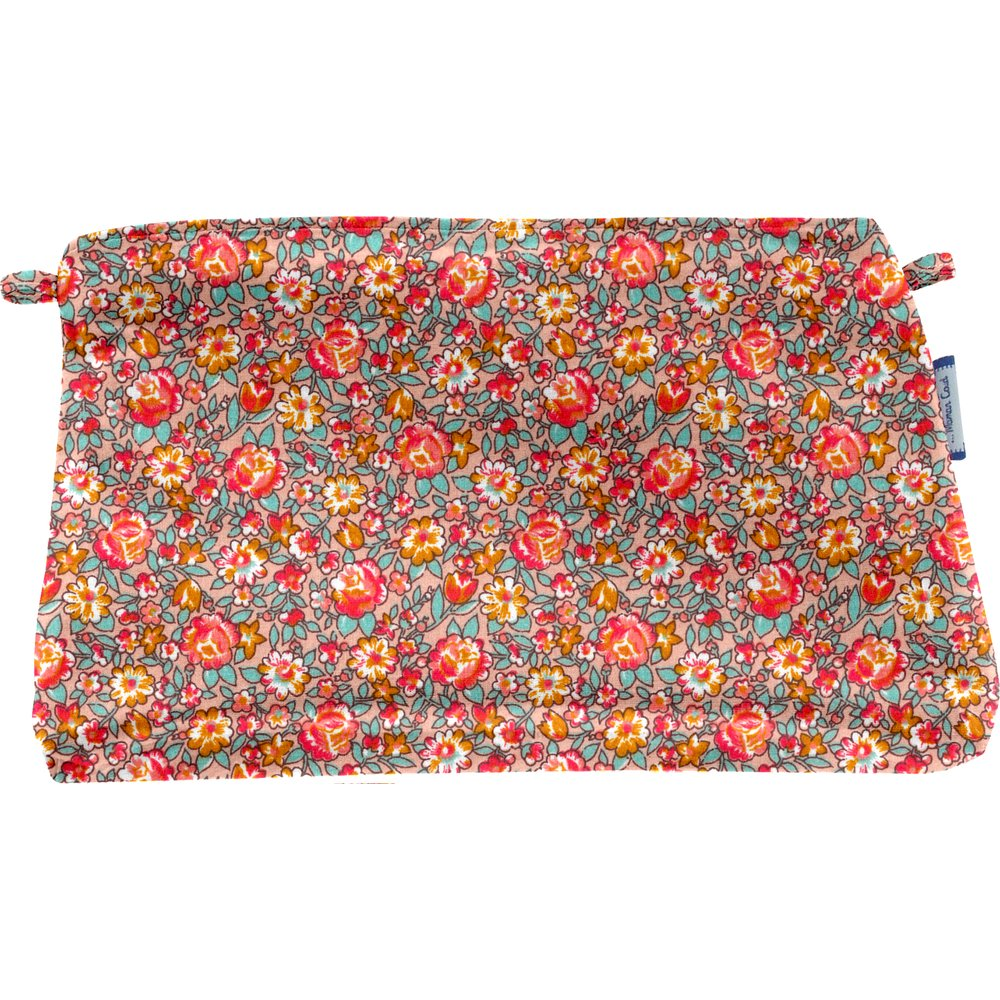 Coton clutch bag peach flower
