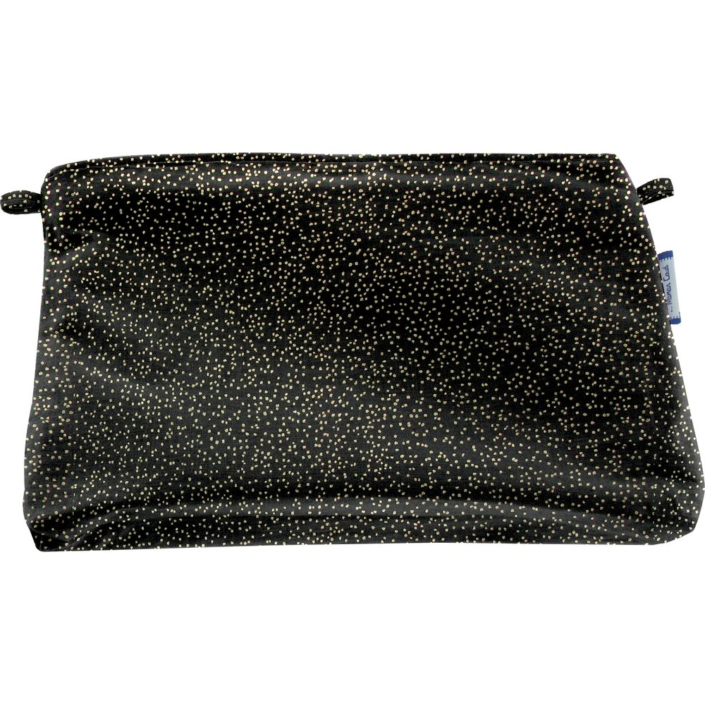 Coton clutch bag noir pailleté