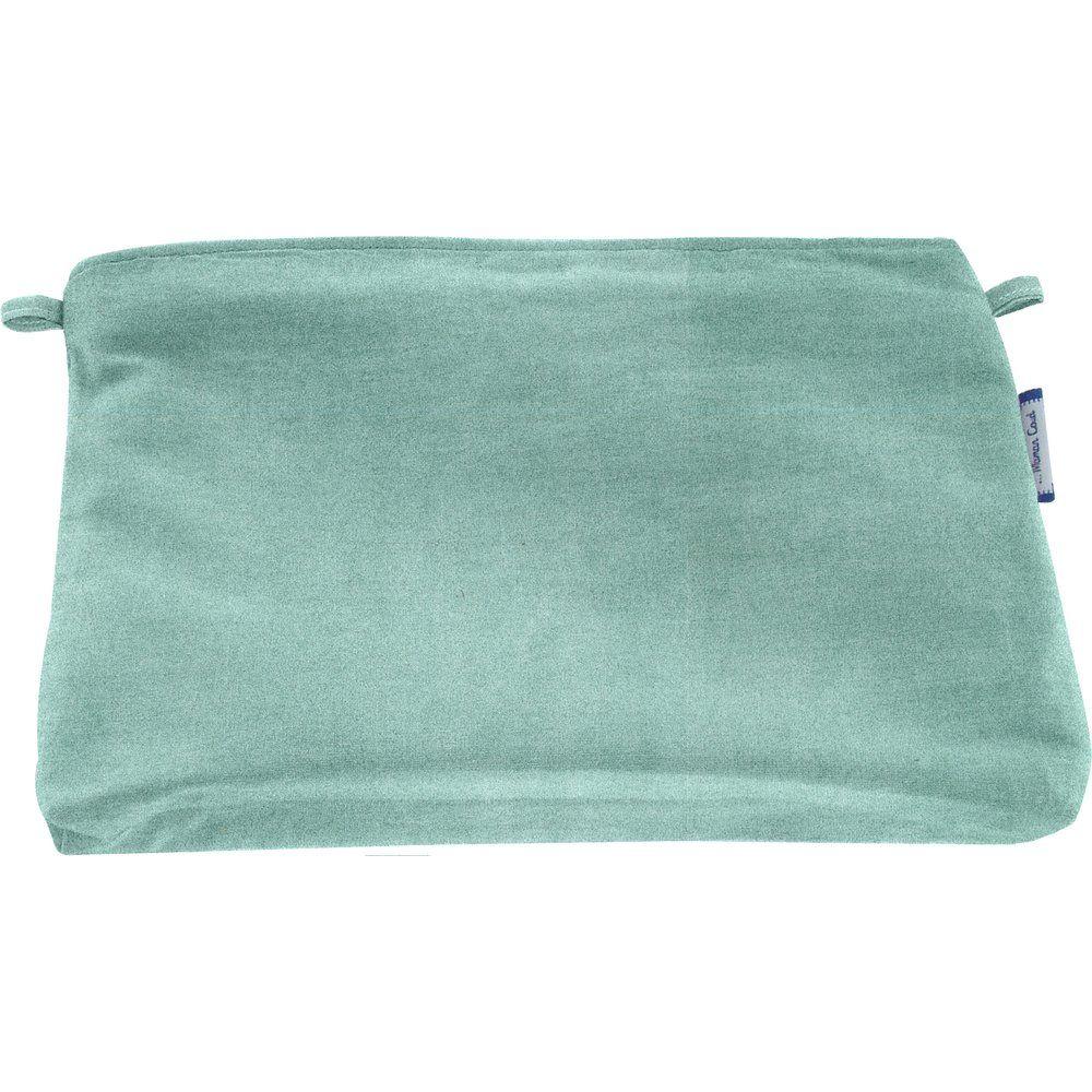 Coton clutch bag suédine bleu nordique