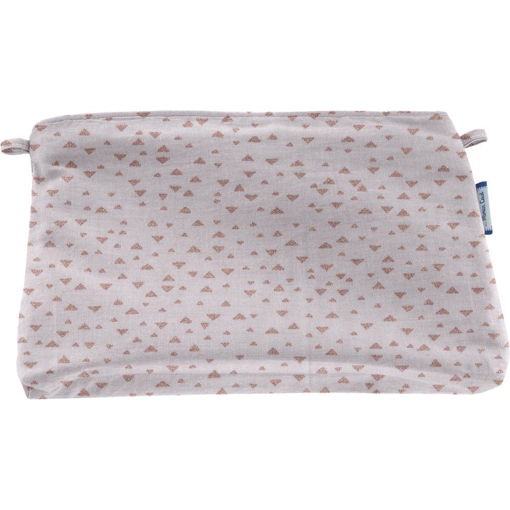 Coton clutch bag triangle cuivré gris