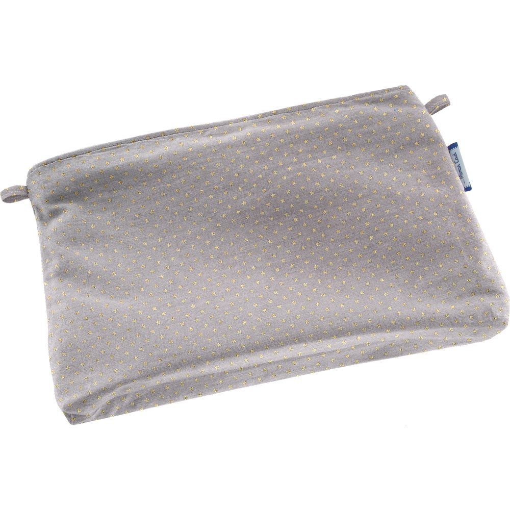 Tiny coton clutch bag etoile or gris