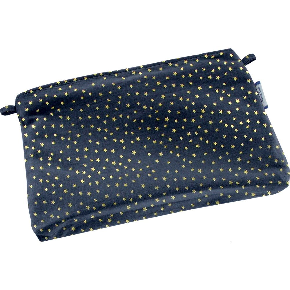 Tiny coton clutch bag etoile or marine