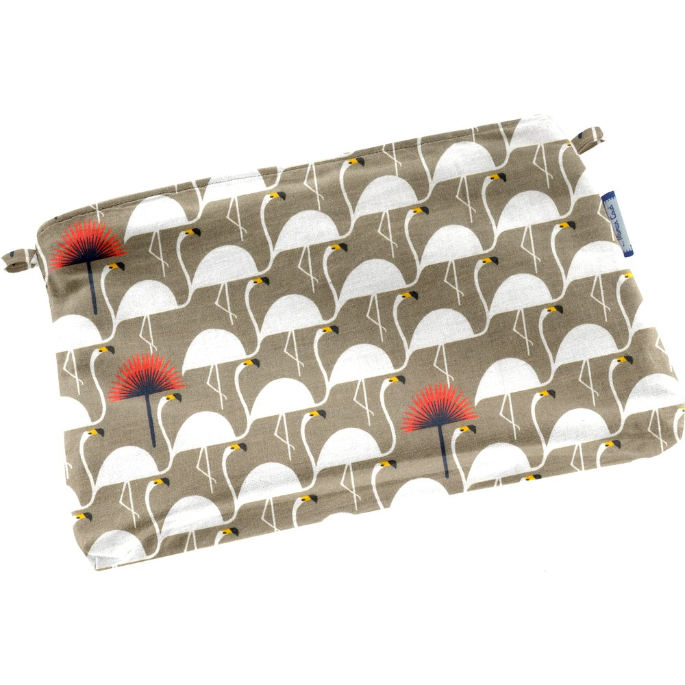 Tiny coton clutch bag flamingo