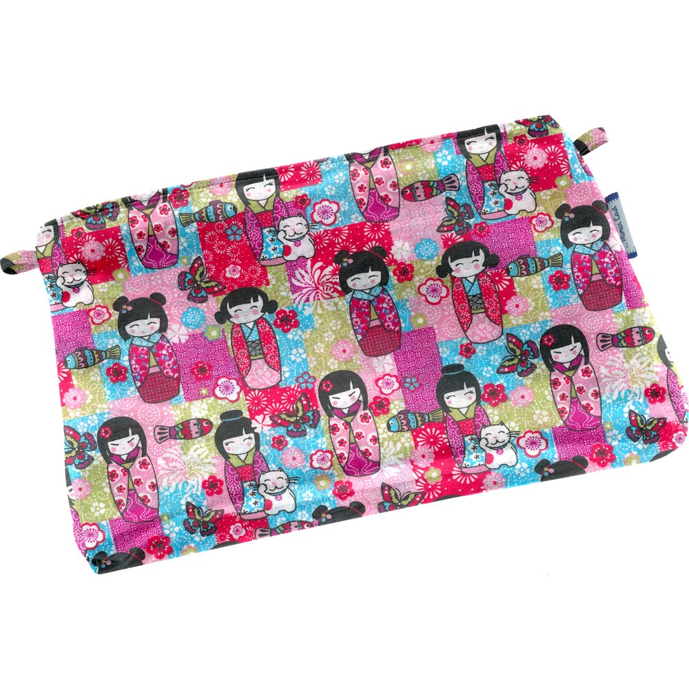 Tiny coton clutch bag kokeshis