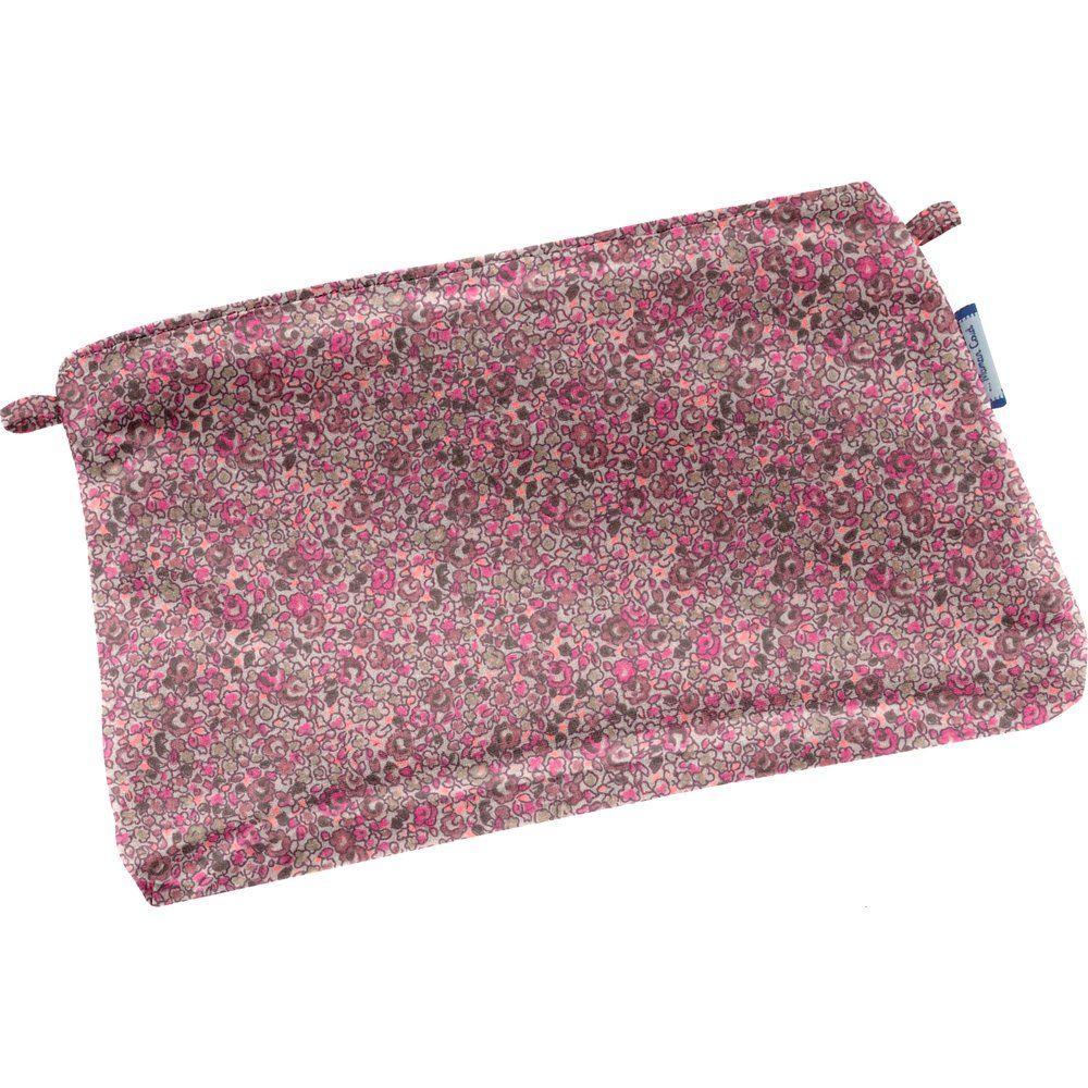 Mini pochette coton lichen prune rose