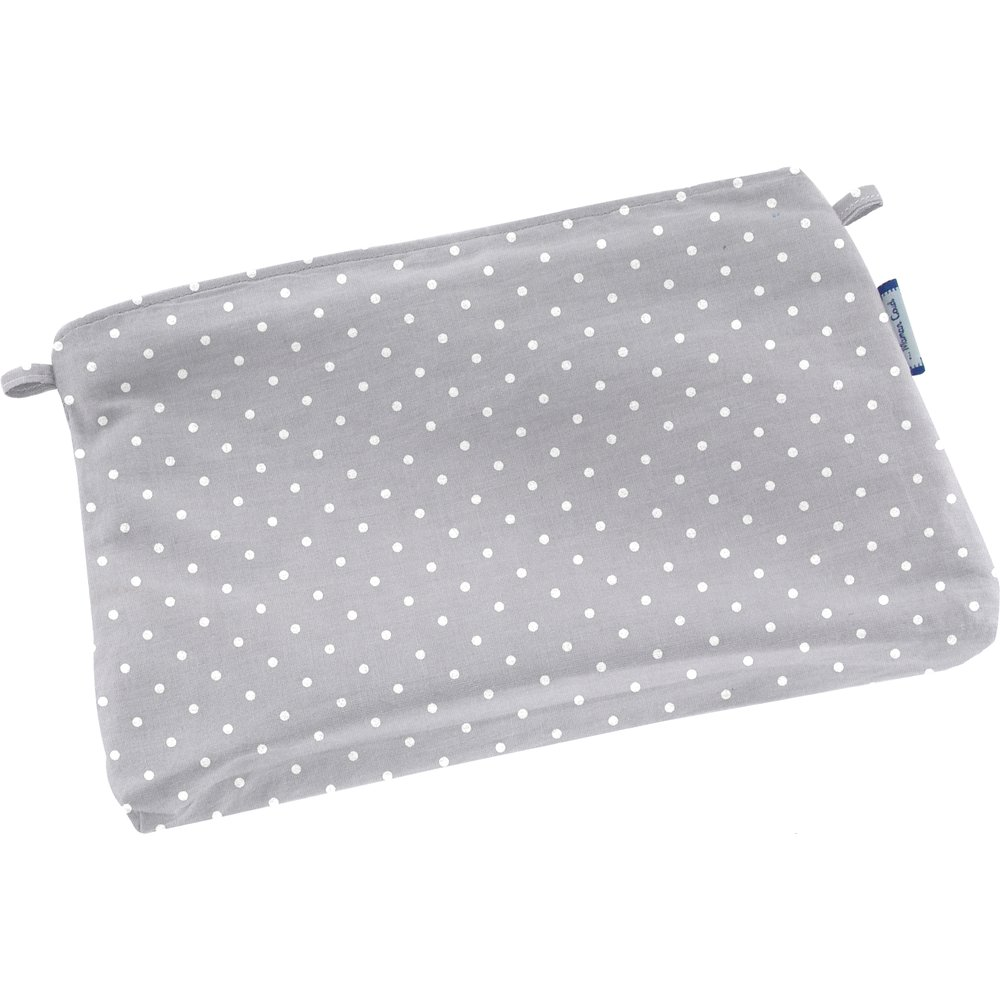 Tiny coton clutch bag light grey spots