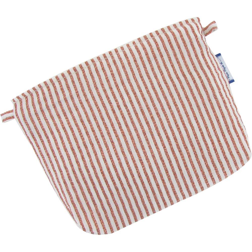 Mini pochette coton rayures cuivrées