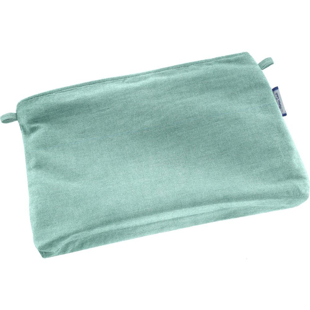 Mini pochette coton suédine bleu nordique