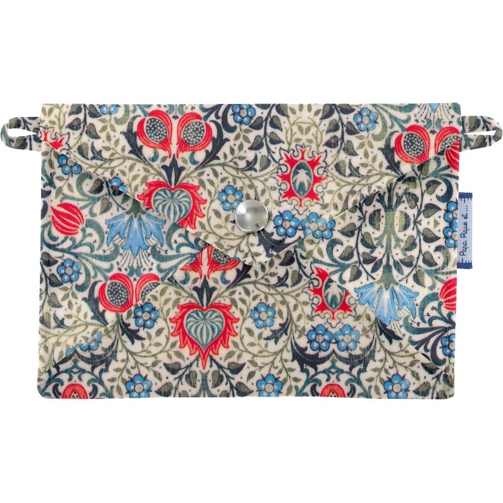 Little envelope clutch azulejos