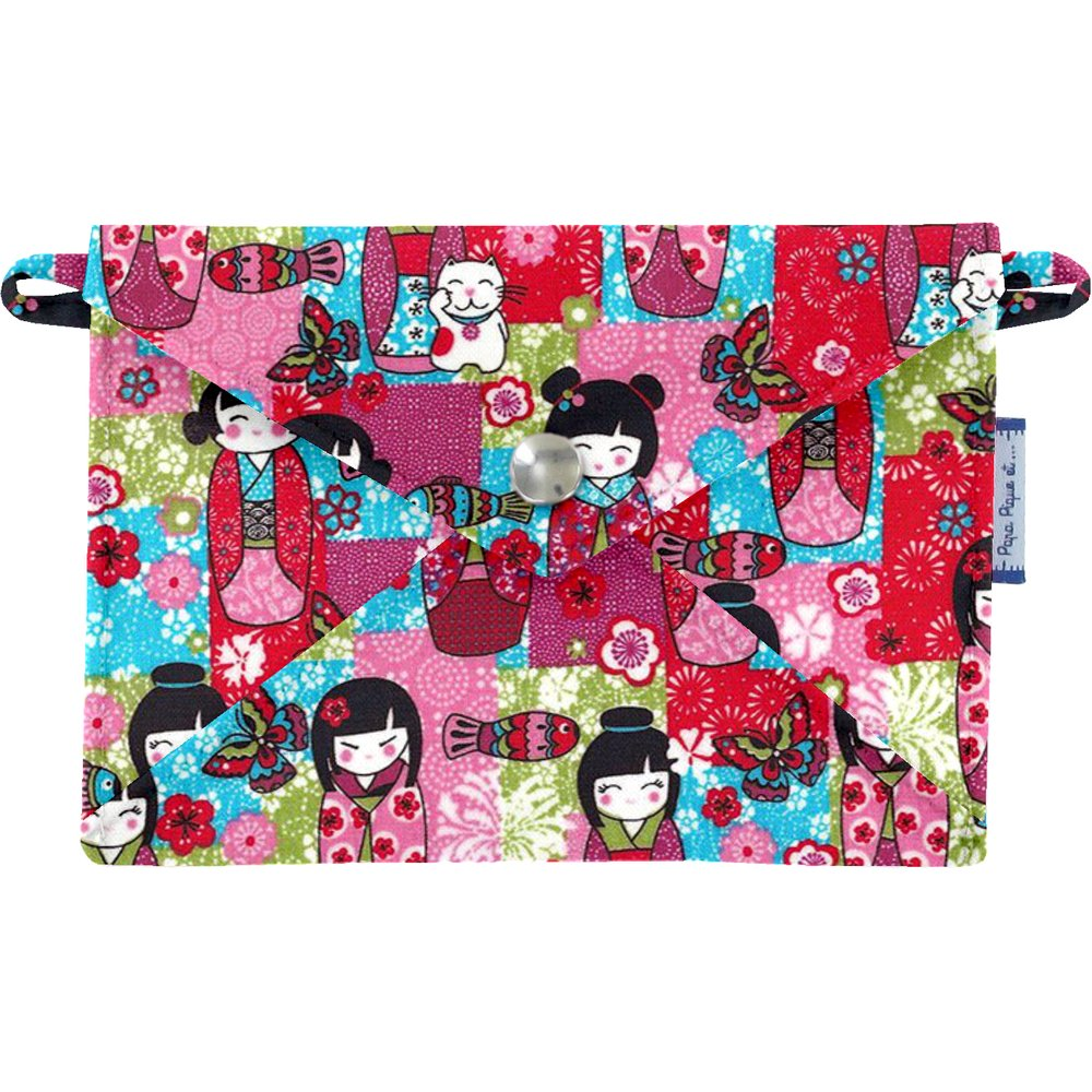 Little envelope clutch kokeshis