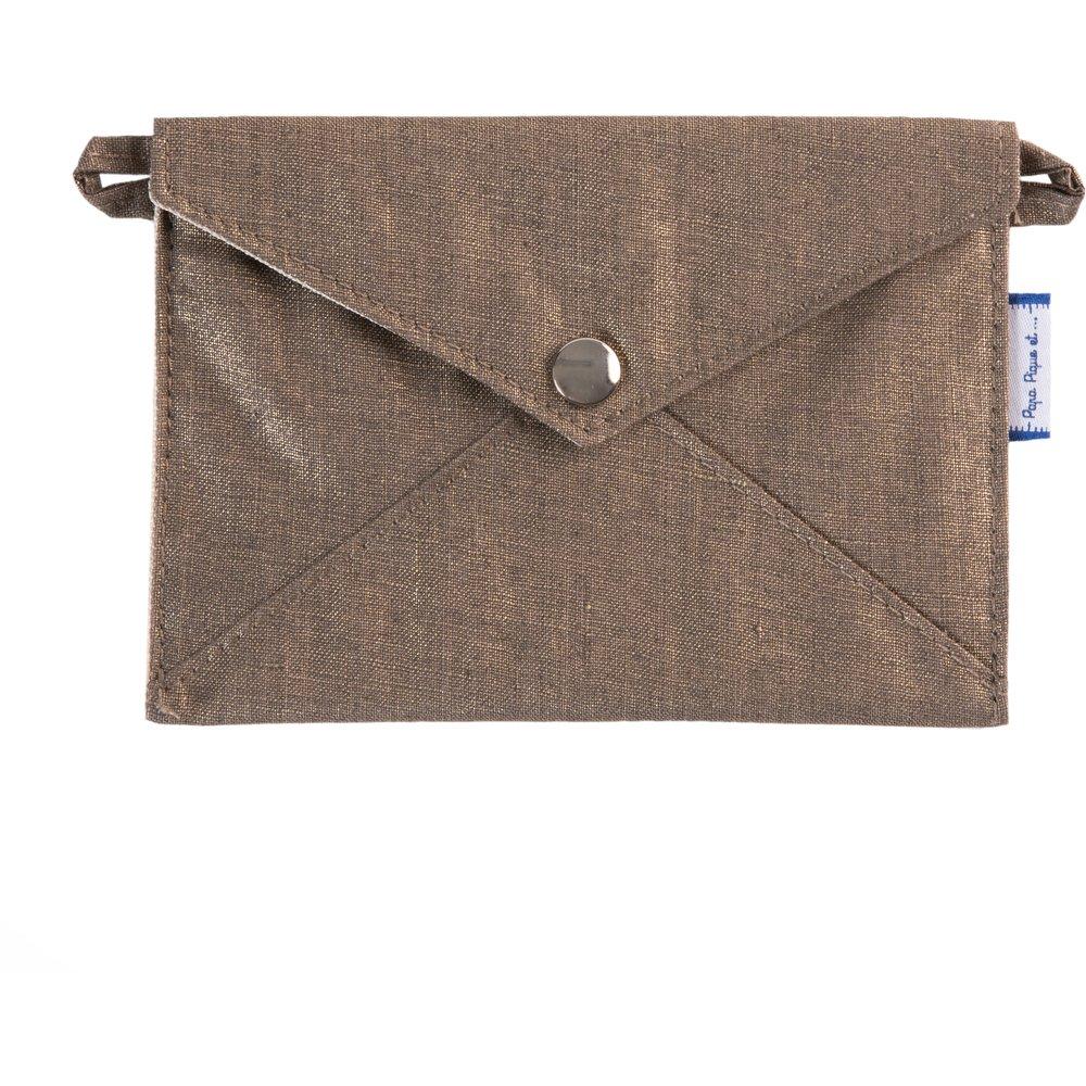 Little envelope clutch copper linen