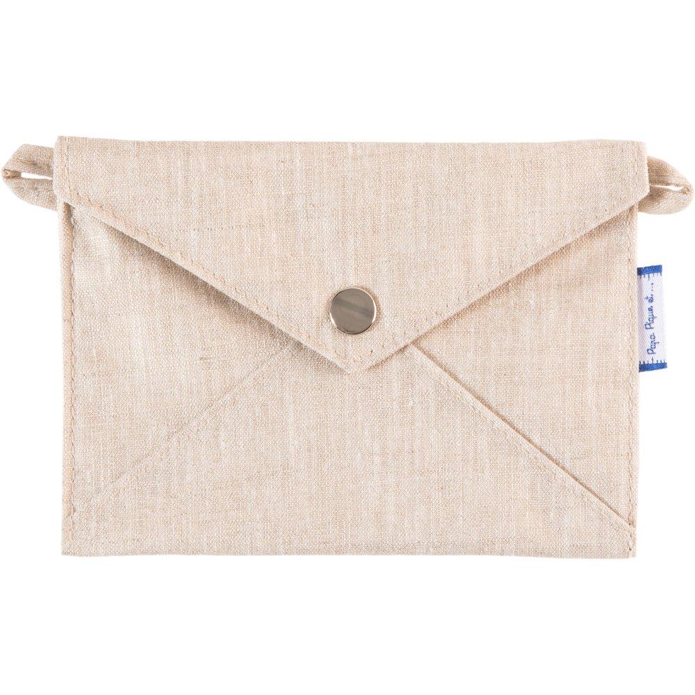 Little envelope clutch  glitter linen