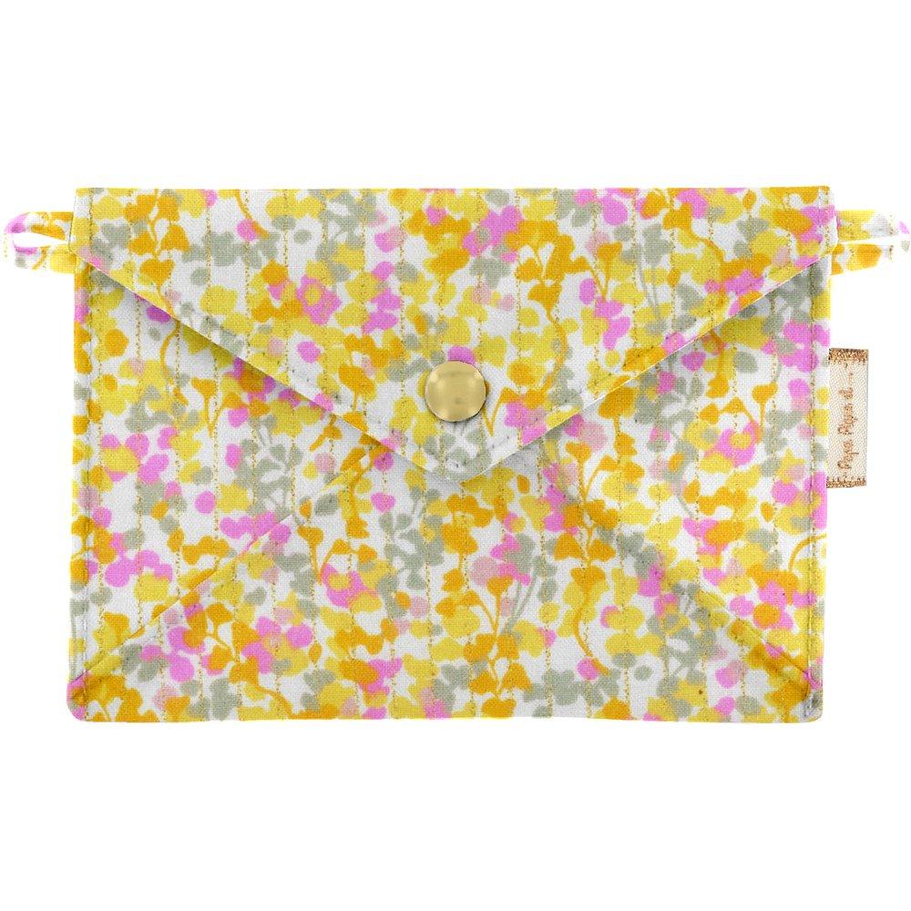 Little envelope clutch mimosa jaune rose