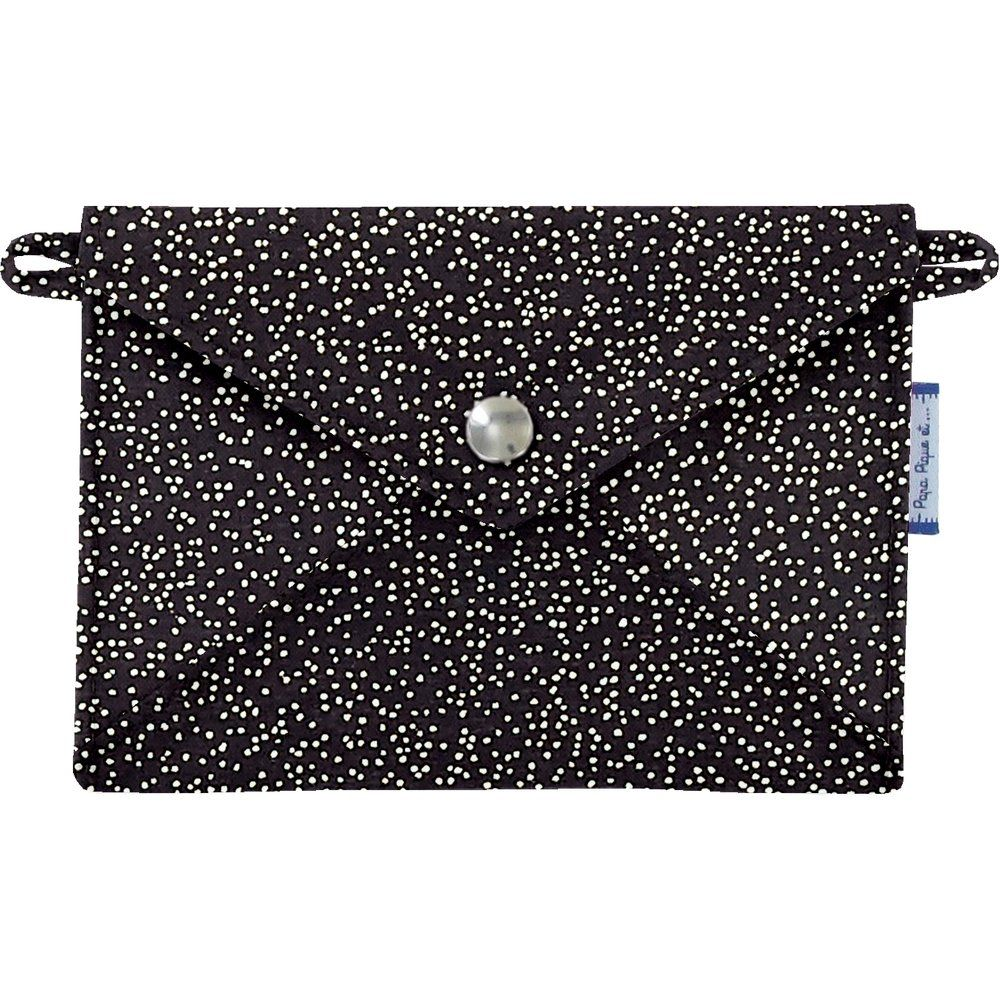 Little envelope clutch noir pailleté