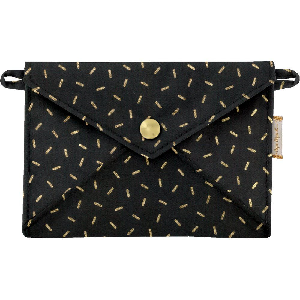 Little envelope clutch golden straw