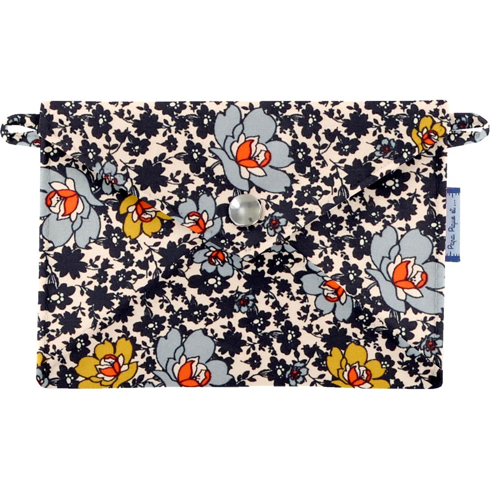 Little envelope clutch ochre flower