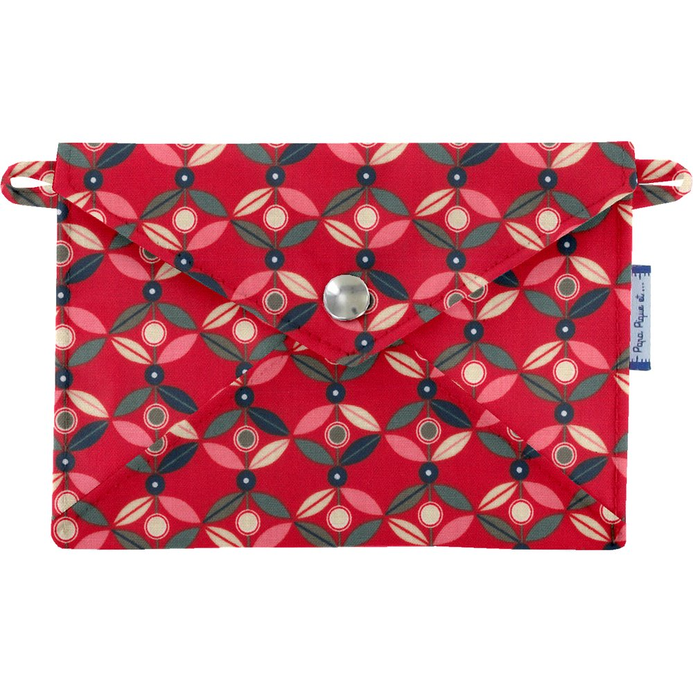 Little envelope clutch paprika petal