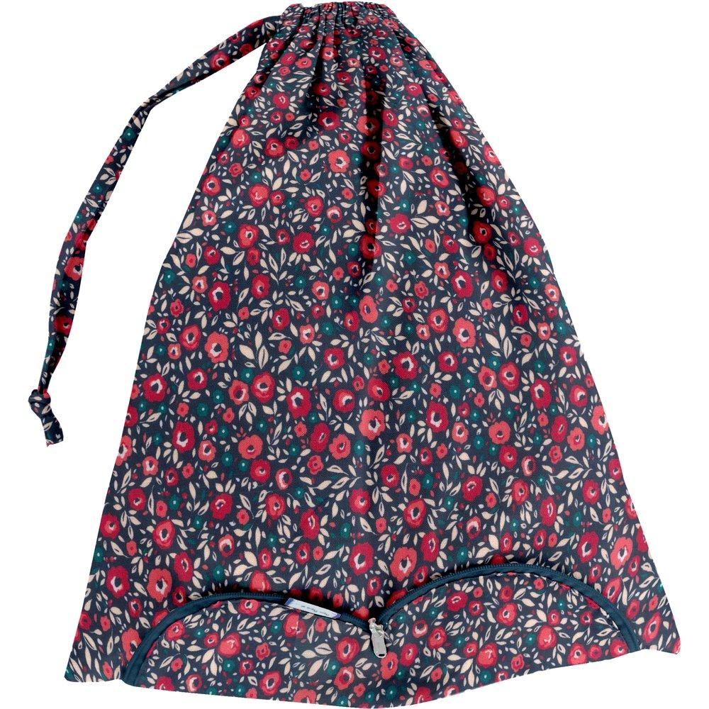 Sac lingerie camelias rubis