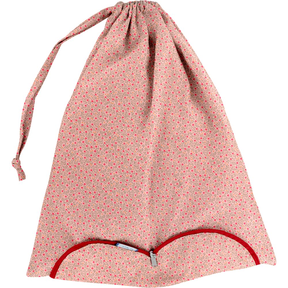 Lingerie bag mini pink flower