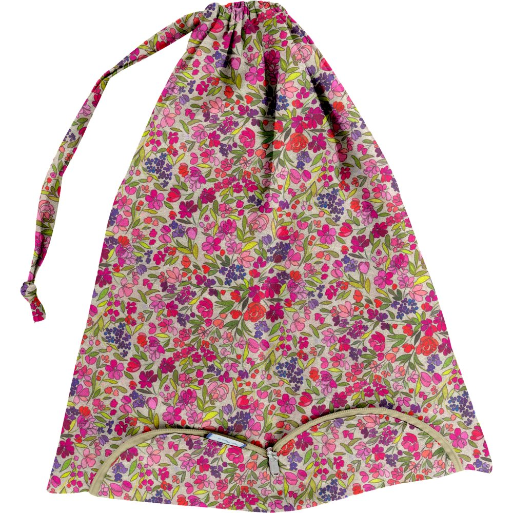 Lingerie bag purple meadow