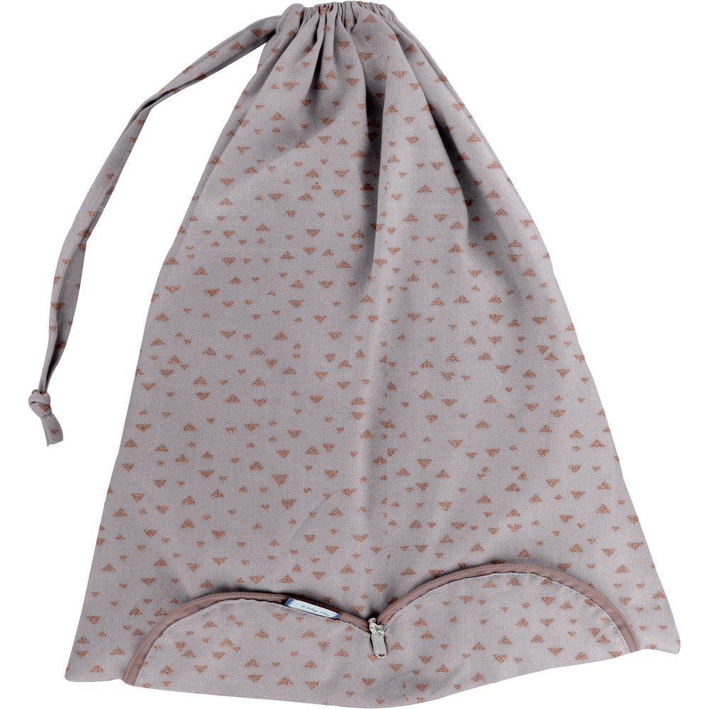 Lingerie bag triangle cuivré gris