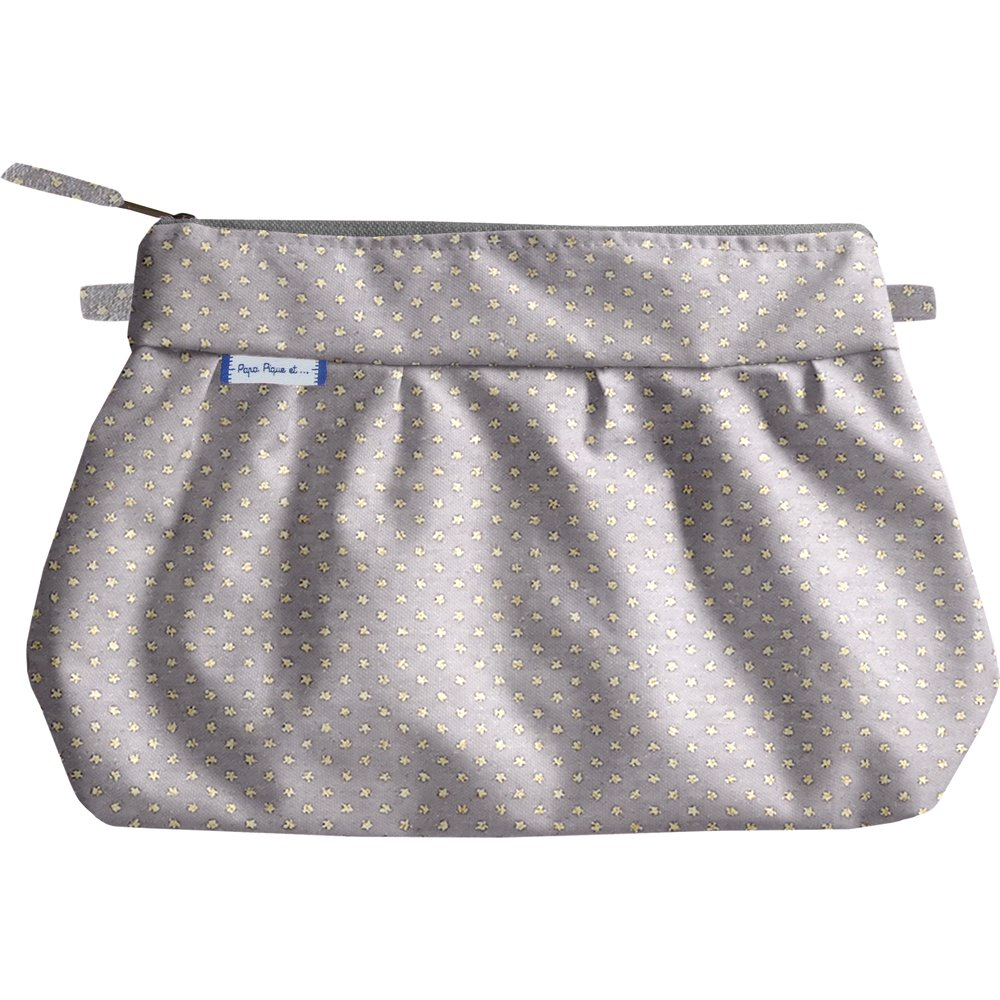 Estuche plisado  etoile or gris