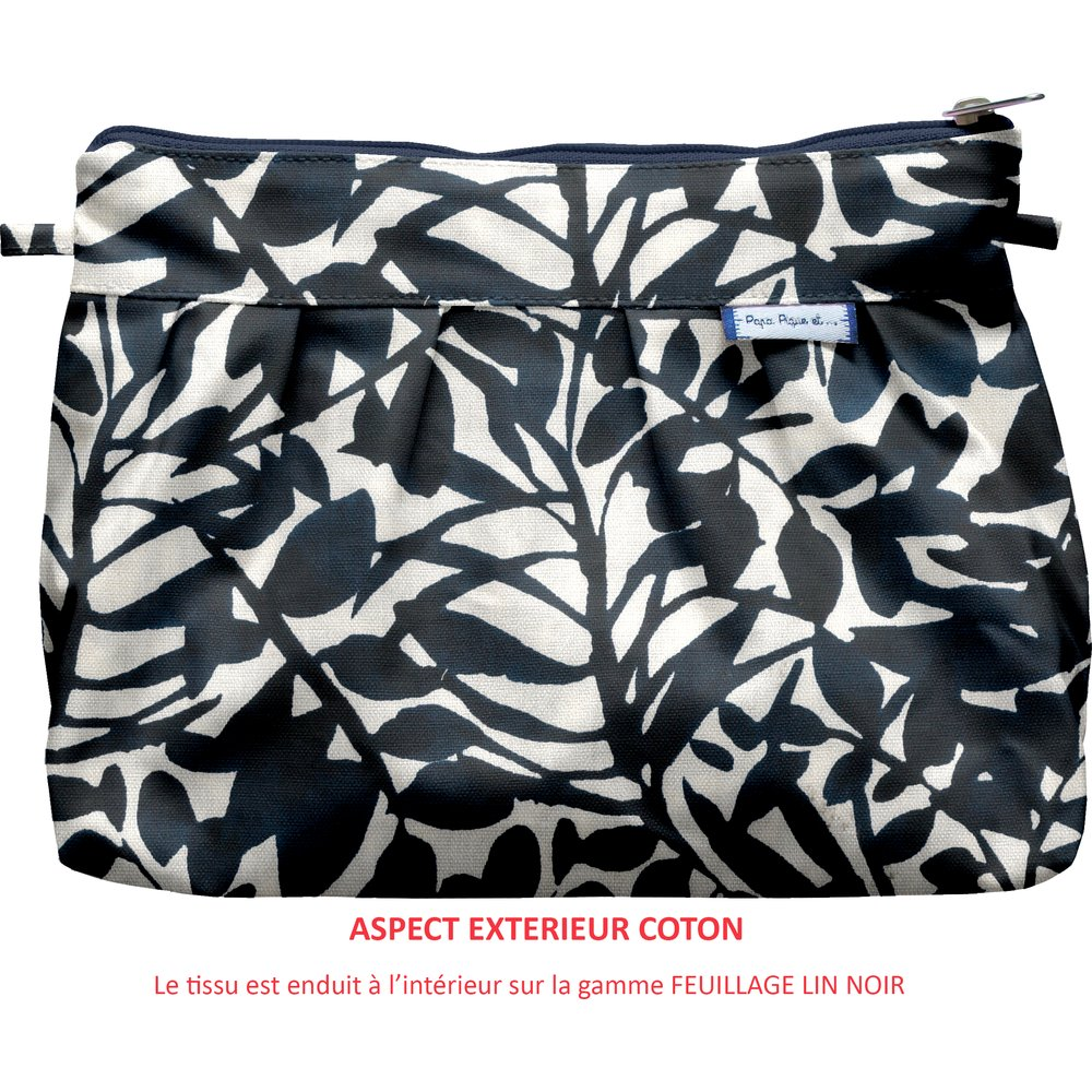 Pleated clutch bag chinese ink foliage