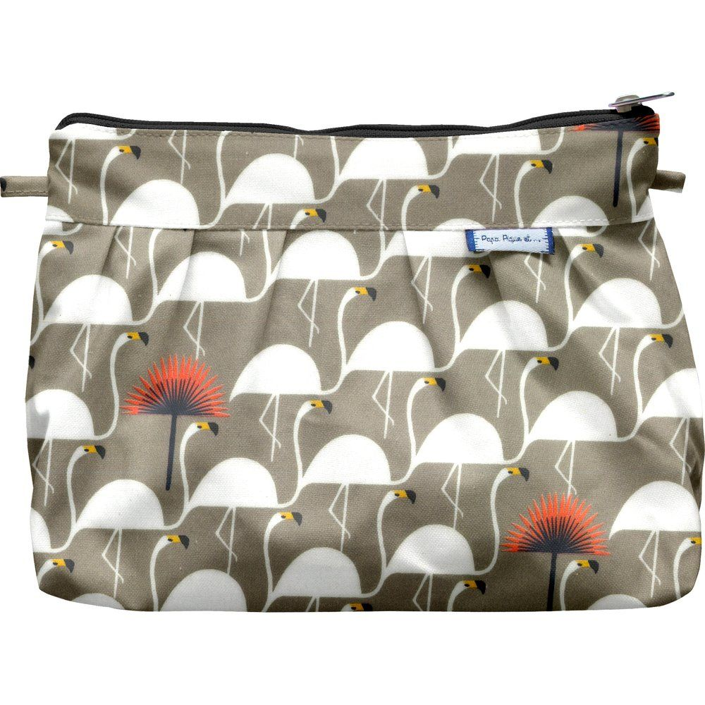 Pleated clutch bag flamingo