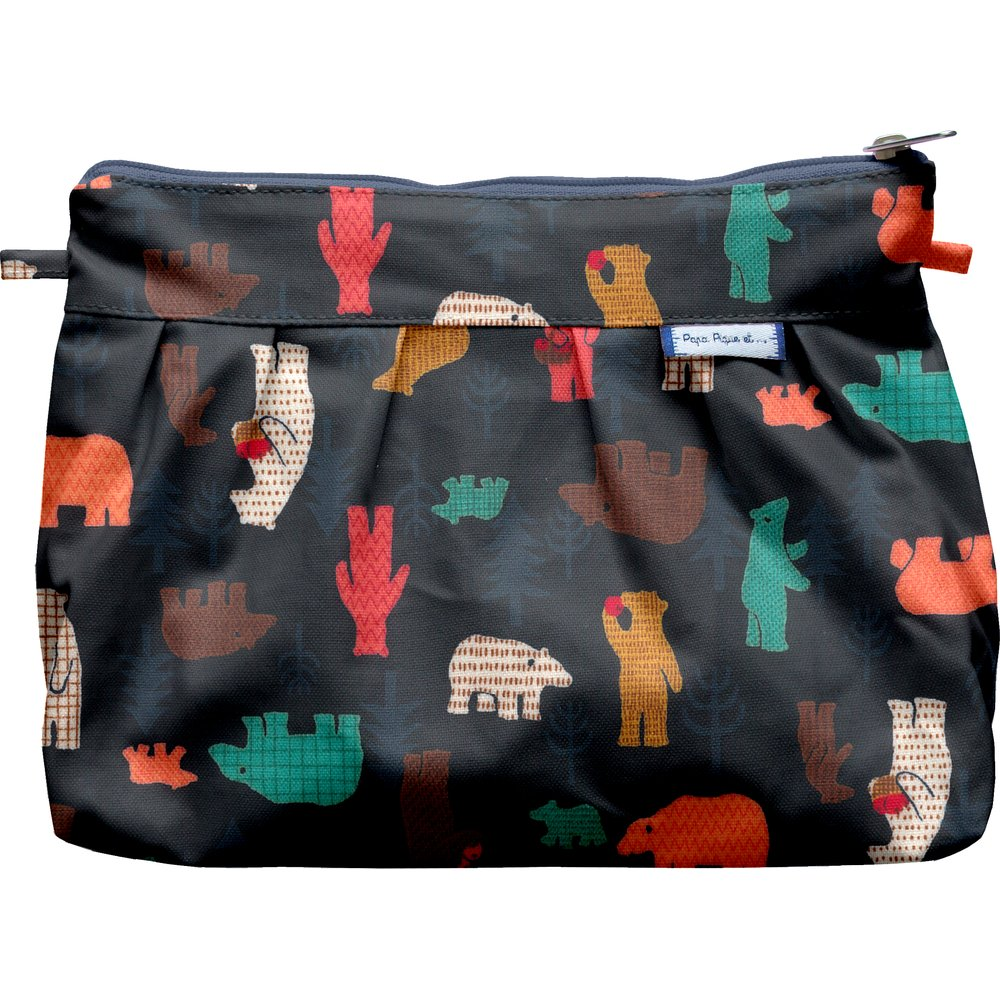 Pleated clutch bag grizzly