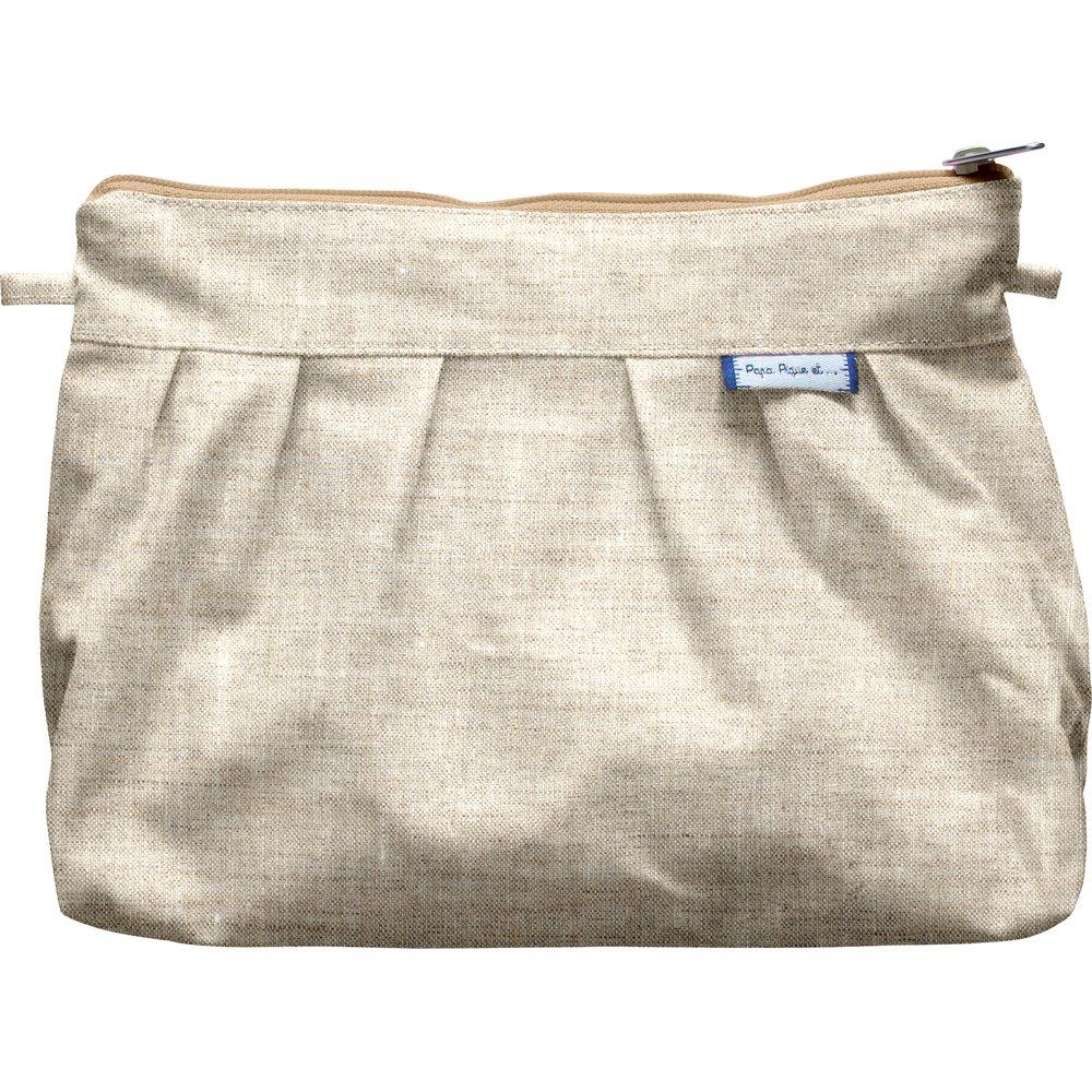 Pochette plissée  lin pailleté