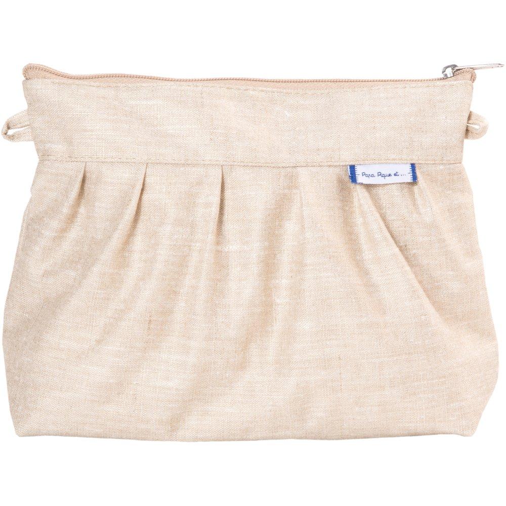 Pleated clutch bag  glitter linen