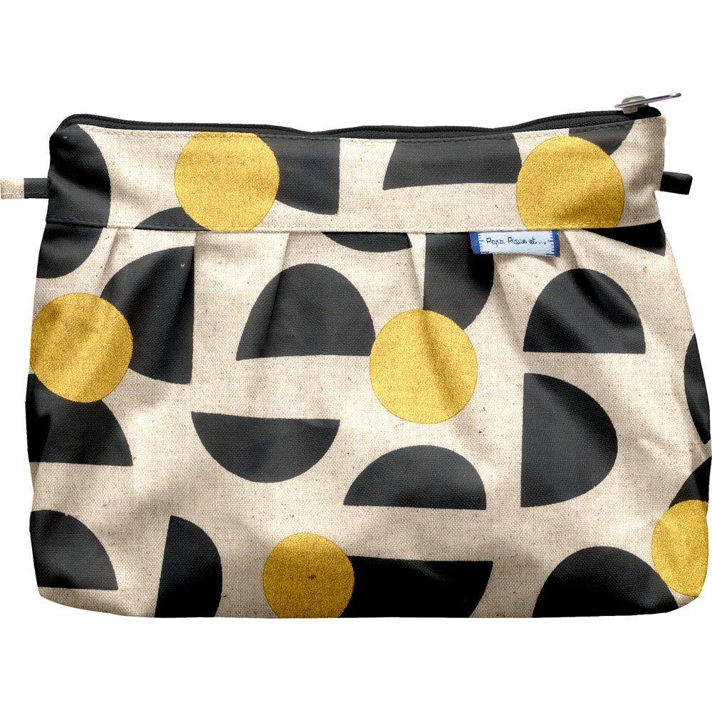 Pleated clutch bag golden moon