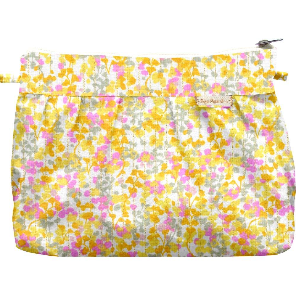 Pochette plissée mimosa jaune rose