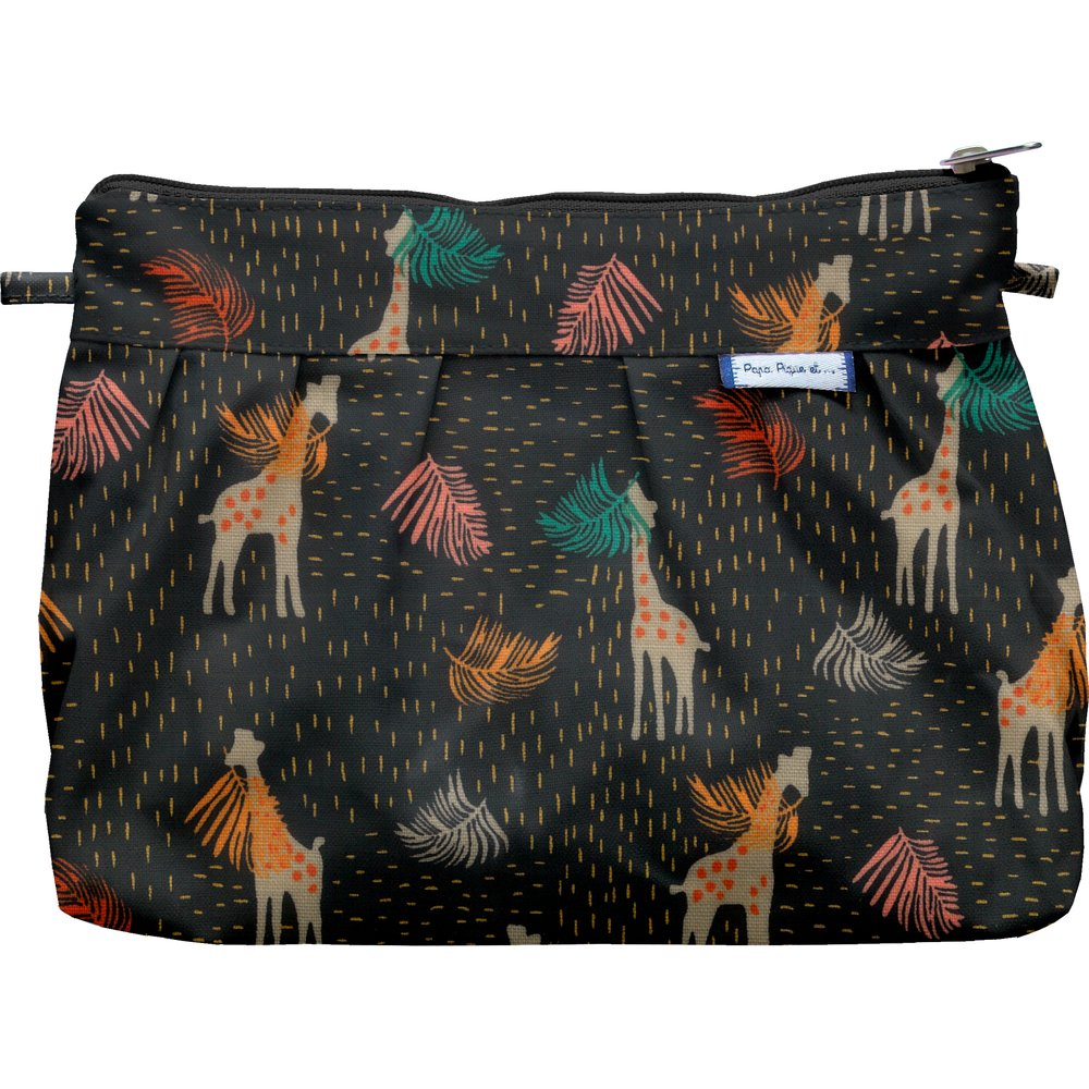 Pleated clutch bag palma girafe