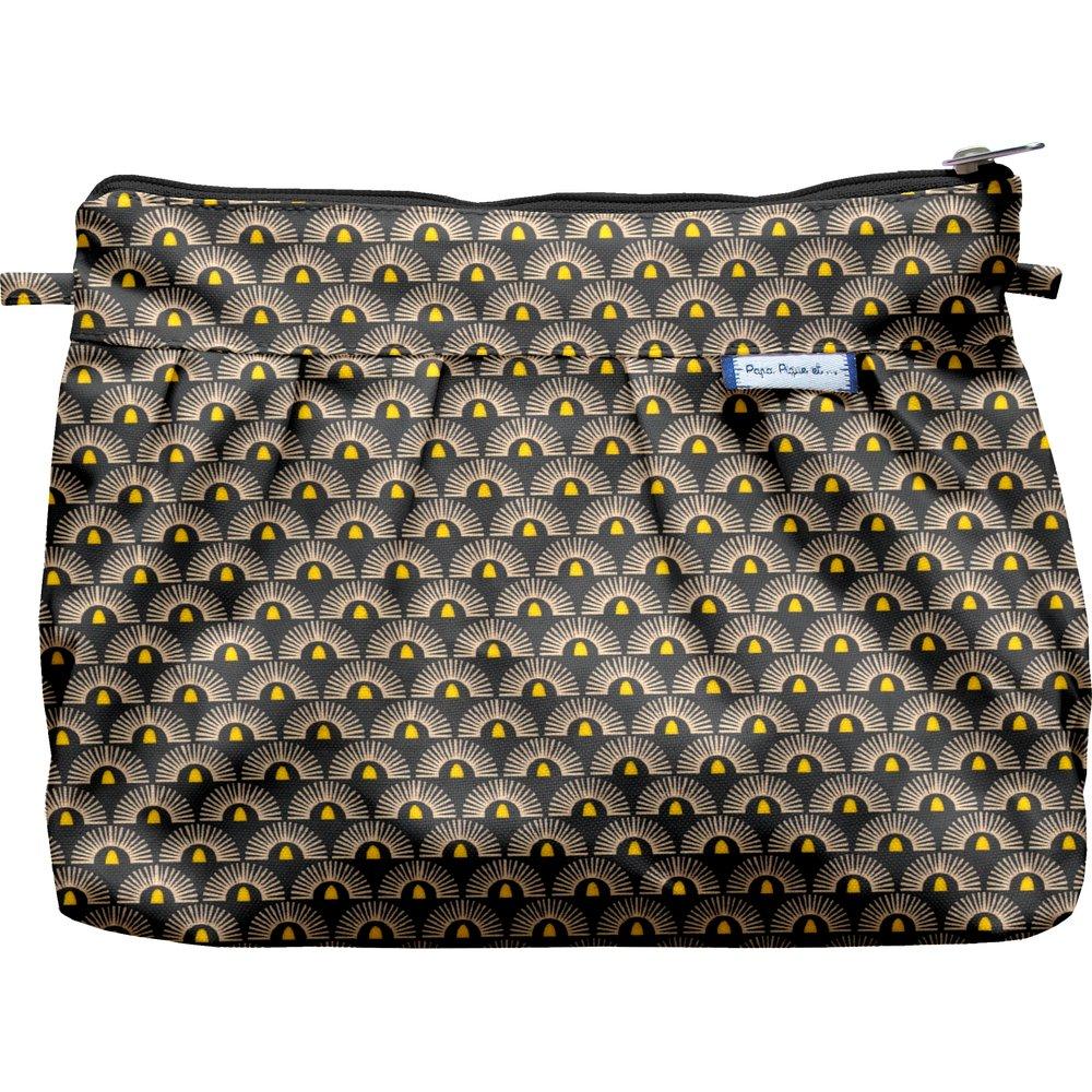 Pleated clutch bag inca sun