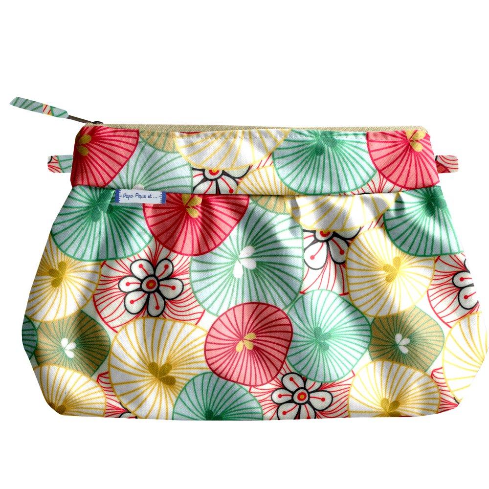 Pochette plissée ombrelles