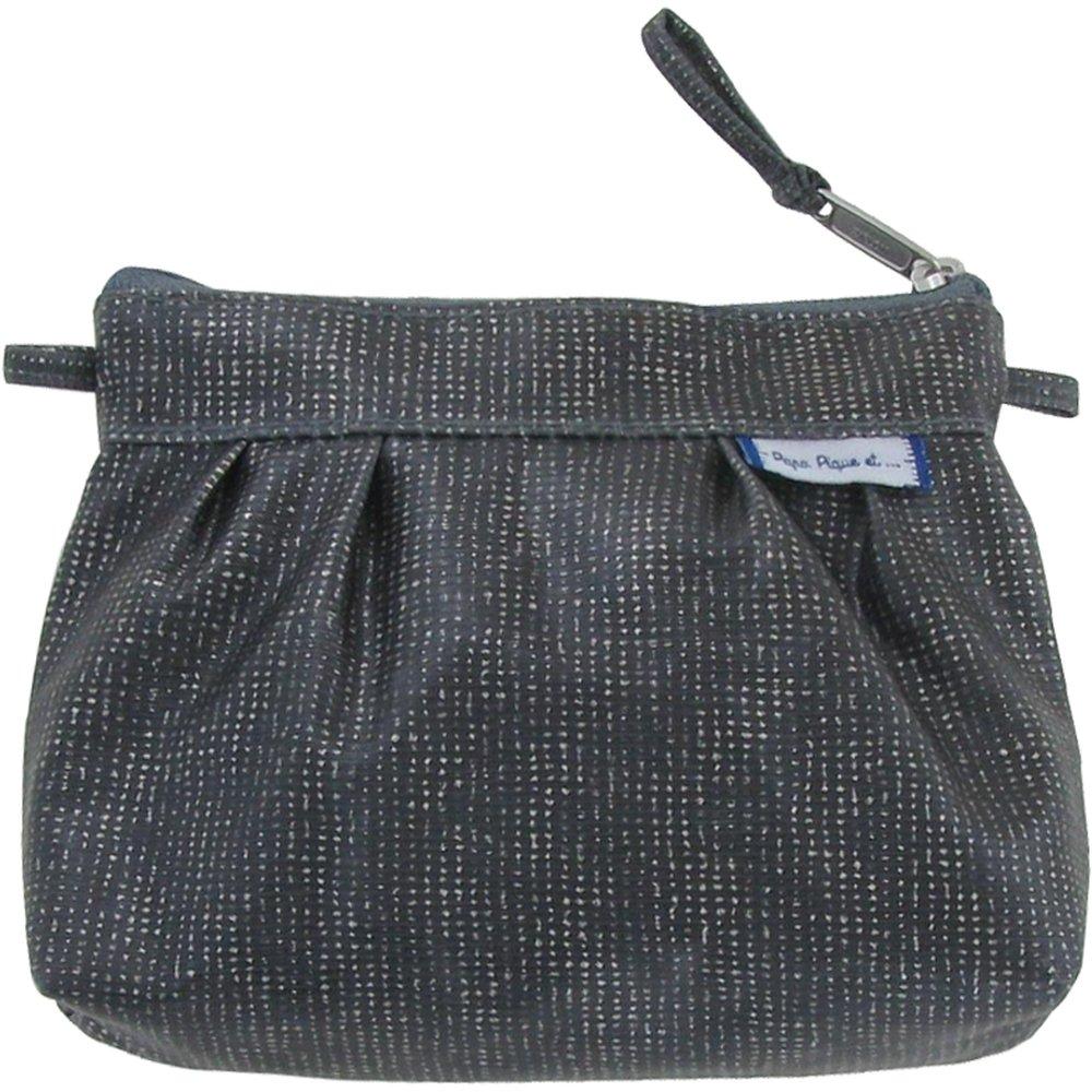 Mini Pleated clutch bag silver gray