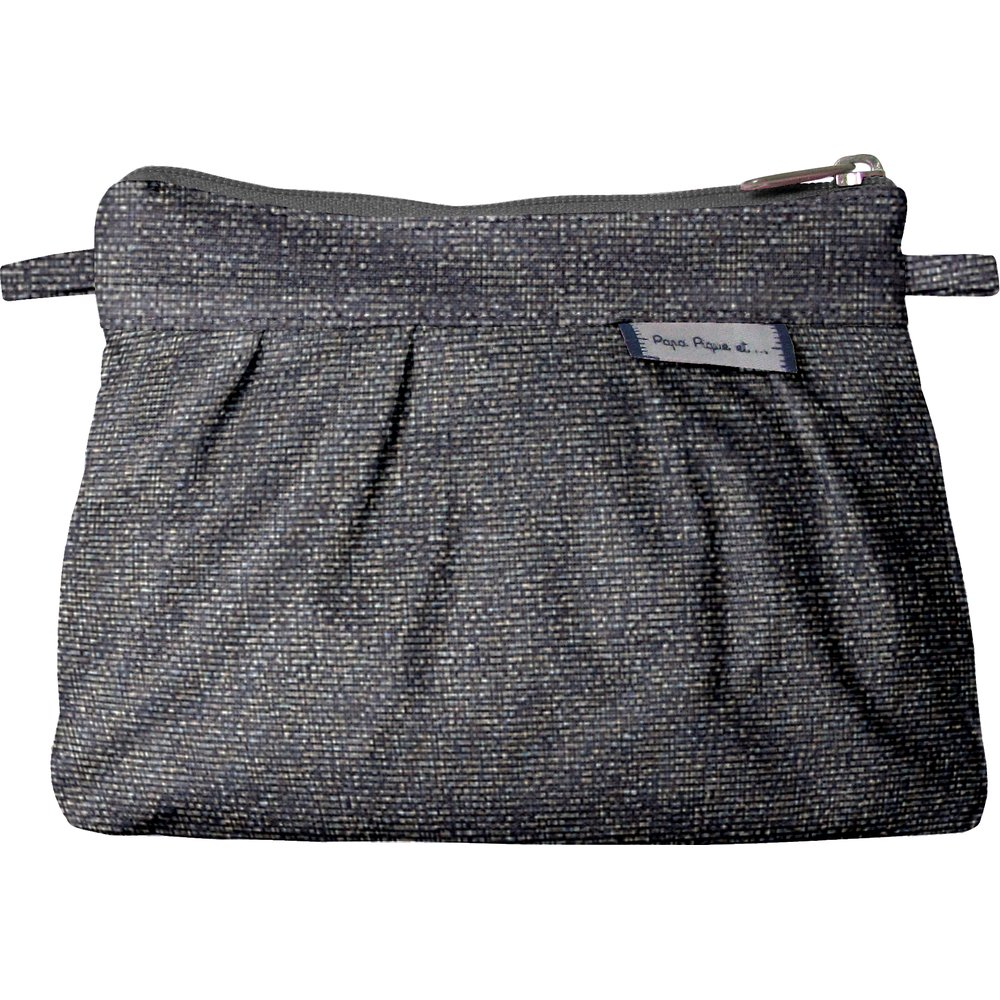 Mini Pleated clutch bag silver gray