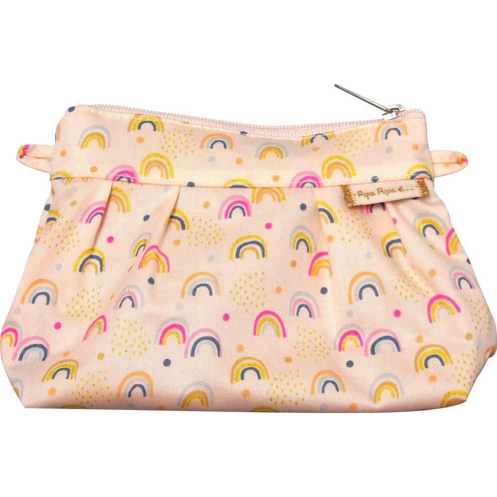 Mini Pleated clutch bag rainbow